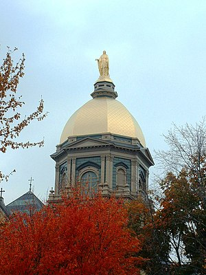 Willoughby J. Edbrooke - Edbrooke's Golden Dome is a landmark of the University of Notre Dame