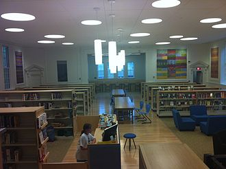 Gould Academy - Sanborn Family Library inside Hanscom Hall, newly renovated in 2011