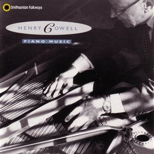 String piano - Cover of Henry Cowell: Piano Music, recorded in 1963, with Cowell demonstrating the longitudinal sweeping technique