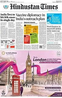 <i>Hindustan Times</i> Indian English-language newspaper