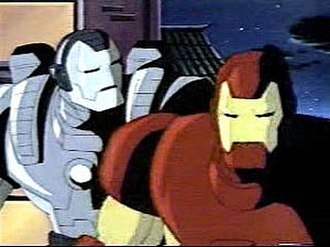 Iron Man's armor in other media - War Machine and Iron Man in the 1994 Iron Man animated series.