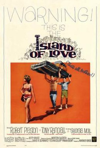 Island of Love (1963 film) - Theatrical release poster