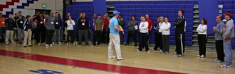 United States Youth Cricket Association - USYCA President Jamie Harrison instructs PE teachers in Howard County, Maryland in March 2011