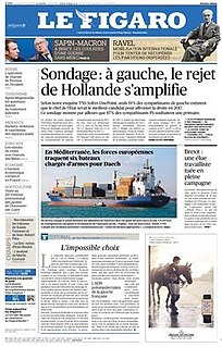 <i>Le Figaro</i> French daily newspaper