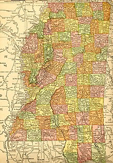 Forrest County Mississippi Wikipedia - Counties in ms map