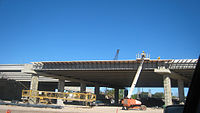 U.S. Highway 77/83 overpass construction over Mcdavitt Blvd.