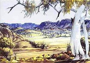 Albert Namatjira - Central Australian Landscape