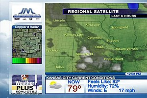 NBC Weather Plus - A planned revamp of Weather Plus prior to the shutdown announcement (from KOMU-TV).