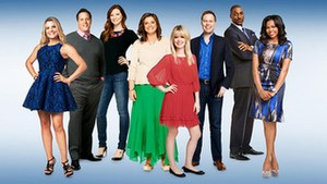 Newlyweds: The First Year - Laura Knight, Kirk Knight, Samantha Abby, Laura Leigh Abby, Nadine Jolie Courtney, Erik Courtney, Rouvaun Walker and Toi Troutman-Walker (from left)