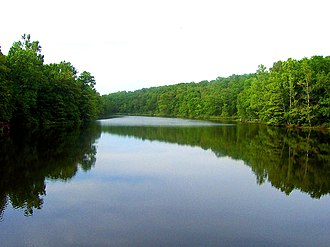 Ozark Acres, Arkansas - A photo of Spring Lake in Ozark Acres, Arkansas. Spring Lake is one of two lakes in the area.
