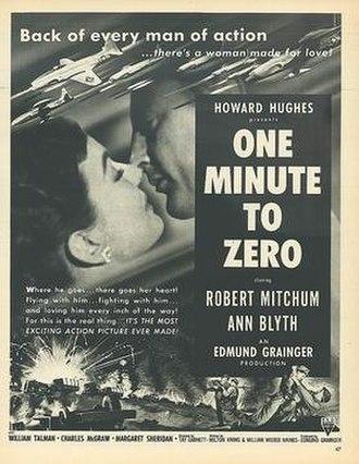 One Minute to Zero - Original film poster