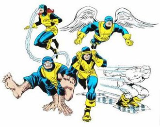 X-Men - The original X-Men members that were created by Stan Lee and Jack Kirby showing their original design.