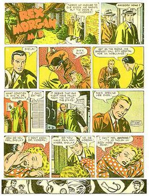 Nicholas P. Dallis - Nicholas P. Dallis' Rex Morgan, M.D. (April 19, 1953) with art by Marvin Bradley and Frank Edgington.