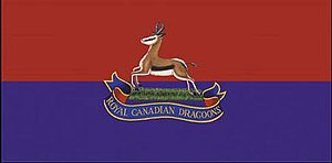 The Royal Canadian Dragoons - The camp flag of The Royal Canadian Dragoons.