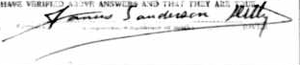James S. Ditty - Image: Signature for James Sanderson Ditty in 1918