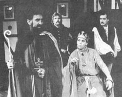 A scene from R. Thad Taylor's production of Sir John Oldcastle.