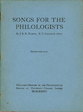 Songs for the Philologists - Cover of the first (and only) edition