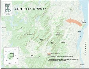 Split Rock Wildway - Image: Split Rock map