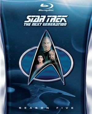 Star Trek: The Next Generation (season 5) - Image: Star Trek TNG S5 Blu Ray