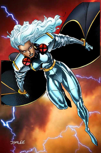 Storm (Marvel Comics) - Storm, during the 1990s. Art by Jim Lee.
