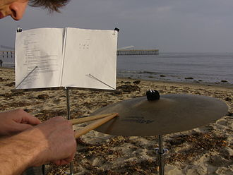 Mark So - James Orsher performs Mark So's Sur la plage at Goleta Beach, CA, November 11, 2007, during mark so: late early works.