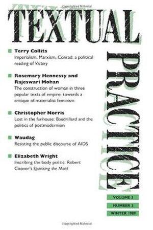 Textual Practice - Image: Textual Practice journal cover