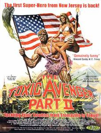 The Toxic Avenger Part II - Theatrical release poster