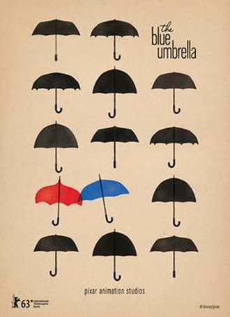 The Blue Umbrella (2013 film) - Poster for the film's premiere at the Berlin International Film Festival