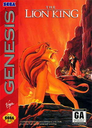 The Lion King (video game) - Packaging for the Genesis version