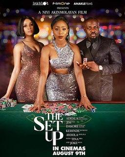 <i>The Set Up</i> (2019 film) 2019 Nigerian LGBT crime drama suspense thriller film by Niyi Akinmolayan