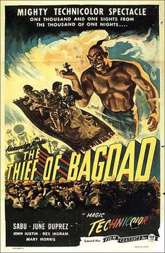 The Thief of Bagdad (1940 film) - 1947 theatrical re-release poster