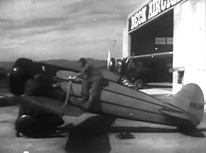 Travel Air Type R Mystery Ship - Pancho Barnes's Travel Air Mystery Ship NR-613K appearing in Sky Bride (1932)