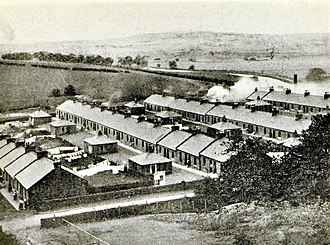 Twechar - Old postcard of Barrhill Rows