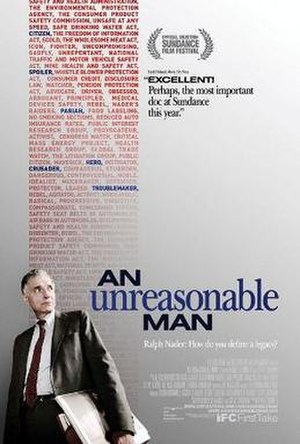 An Unreasonable Man - Promotional movie poster for the film