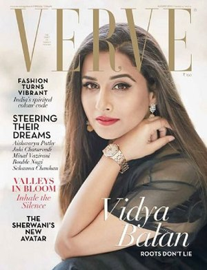 Verve (magazine) - Vidya Balan on the cover of August 2016 edition.