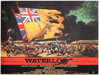 Renato Fratini - Fratini's poster for Waterloo, 1970, from a design by Eric Pulford.