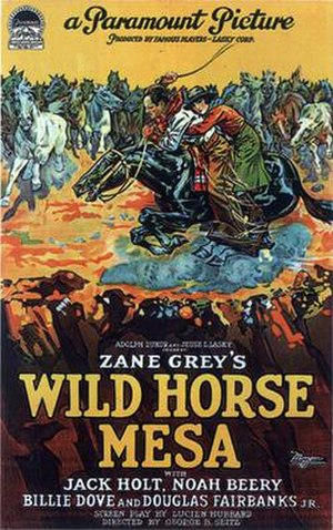 Wild Horse Mesa (1925 film) - Theatrical release poster