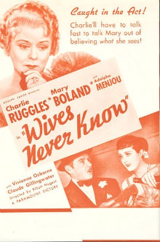 Wives Never Know - theatrical poster