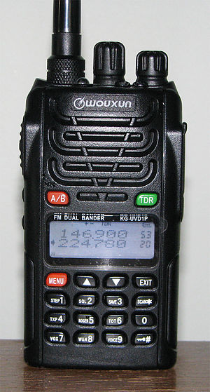 1.25-meter band - Wouxun KG-UVD1P dual watch handheld for 2M and 220 MHz.