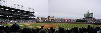 Panoramic view of Wrigley Field