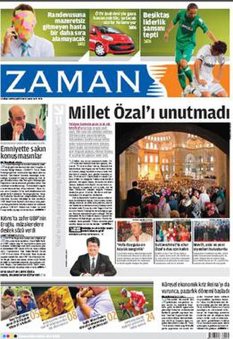 Zaman (newspaper) - Typical Zaman front page