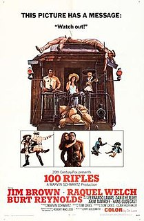<i>100 Rifles</i> 1969 film by Tom Gries