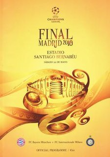2010 UEFA Champions League Final The final of the 2009–10 edition of the UEFA Champions League