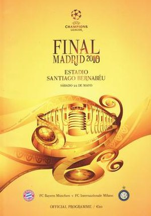 2010 UEFA Champions League Final - Image: 2010 UEFA Champions League Final programme
