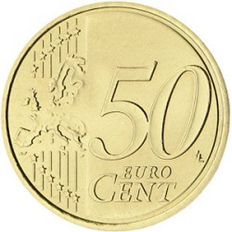 Euro coins - Image: 50 eurocent common 2007