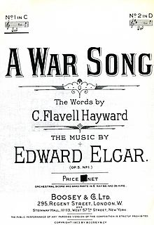 A War Song song composed by Edward Elgar