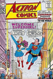 Action Comics #285 (February 1962), Supergirl is introduced to the world. Art by Curt Swan.