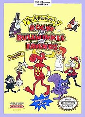 Box cover of The Adventures of Rocky & Bullwinkle and Friends (NES)