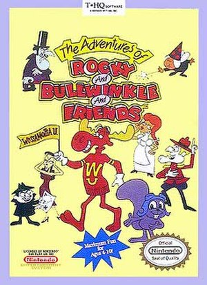 The Adventures of Rocky and Bullwinkle and Friends (video game) - Image: Adventures of Rocky and Bullwinkle NES box art