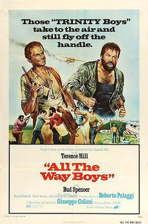 ... All the Way, Boys! - Theatrical poster. U.S. release. art by Renato Casaro
